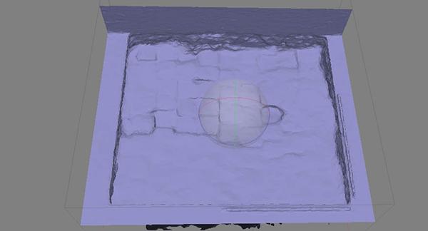 Ortoimagen cenital del yacimiento arsandarq.com/galeria