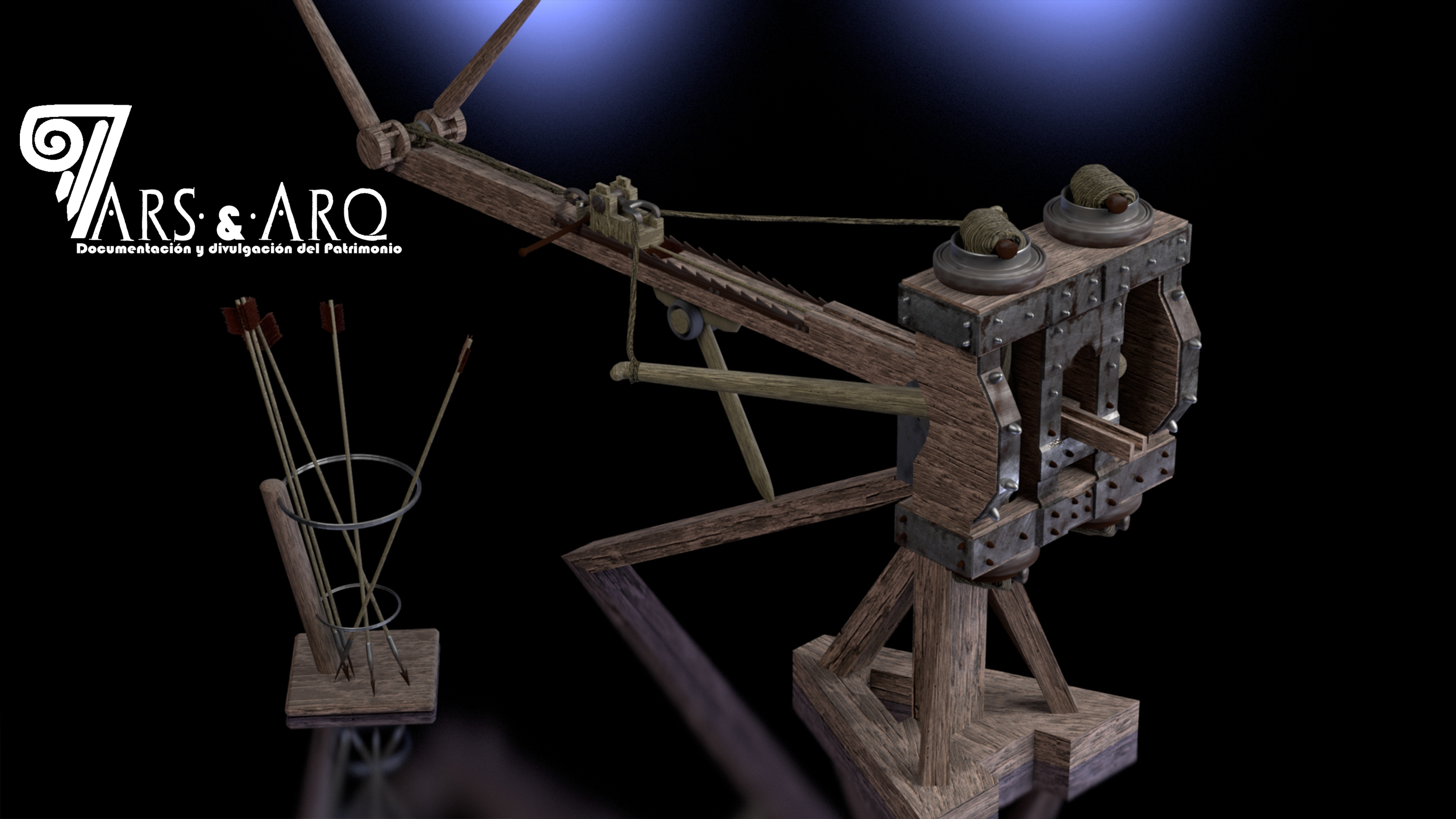 Reconstrucción virtual de scorpio romano.